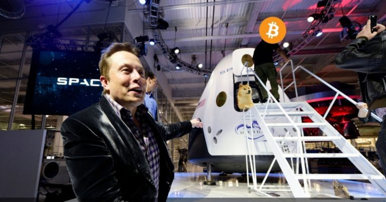 In Retrospect, It Was Inevitable: Elon Musk Pumps Bitcoin to Space